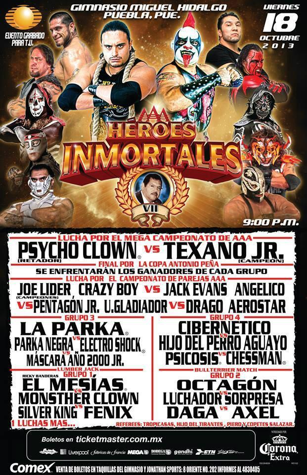 AAA Héroes Inmortales VII / Gimnasio Miguel Hidalgo en Puebla, Pue. - 18 de octubre de 2013 / Image by @BLACKTERRY
