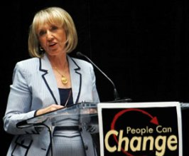 Jan Brewer from Arizona speaking about her new gay to straight conversion program which will be implemented in all public school in Arizona.