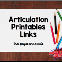 Articulation Printables Links