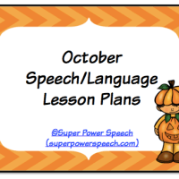 October Speech Lesson Plans 2014
