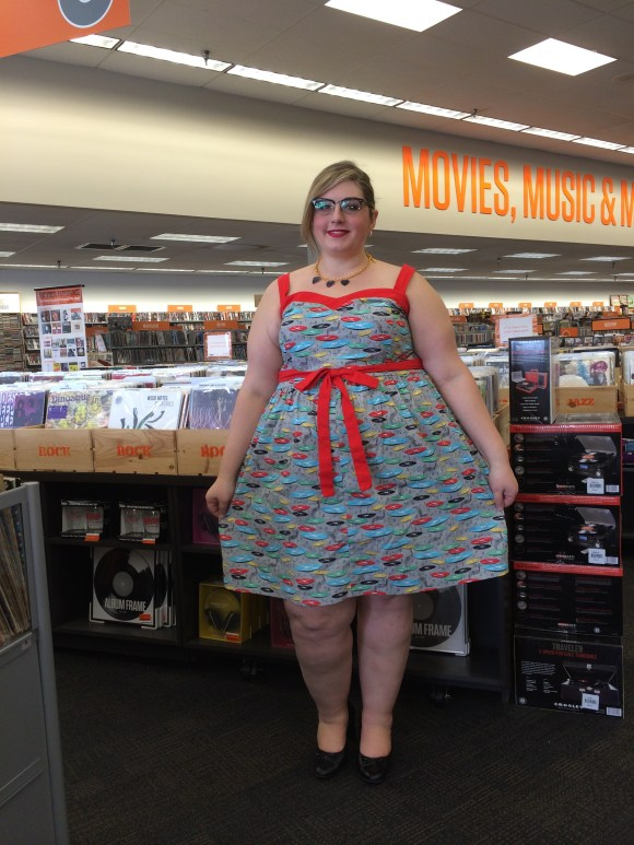 Dress up '50s style! For the Record Books Dress