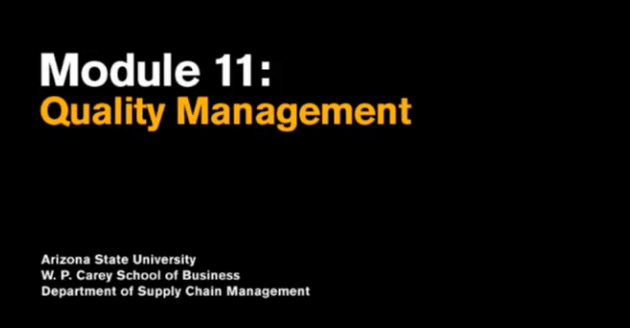 Module 11 - Quality Management