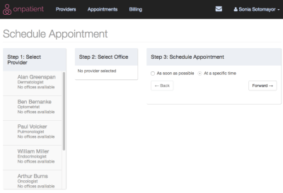 onpatient FAQ: Why can't my patients select a provider to schedule an appointment? – drchrono ...