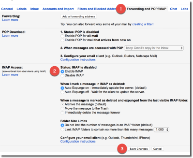 Setting up Google / Gmail – Postbox Support