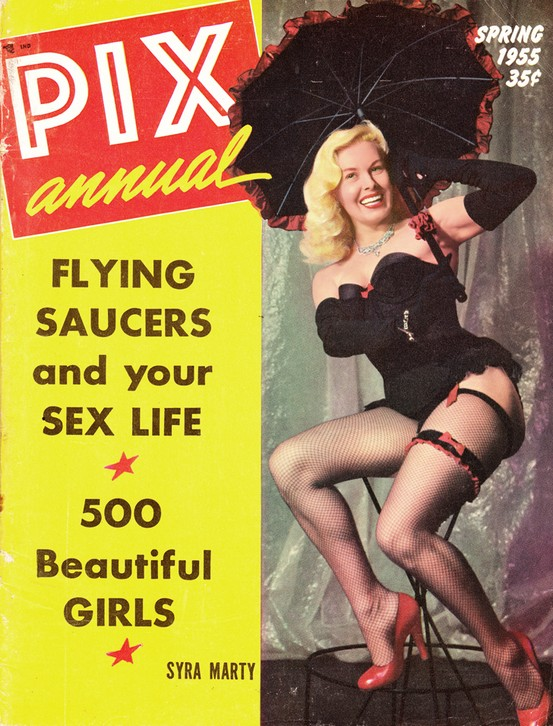 Syra Marty on the cover of Pix Annual, Spring 1955