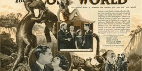 1925 - First movie inspired by Doyle's Lost World. It is said that he was present at the premiere.