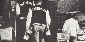 Dartmouth college students wearing Varsity jackets, 1963 (TAKE IVY)
