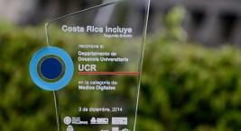 Departamento de Docencia Universitaria de la UCR recibe premio del certamen Costa Rica Incluye