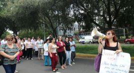 Manifestacion en la Clinica Carlos Duran