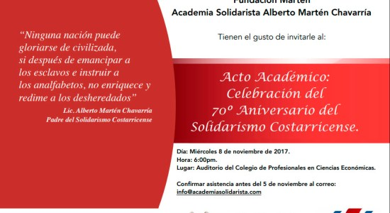 UNA 70 Aniversario del Solidarismo