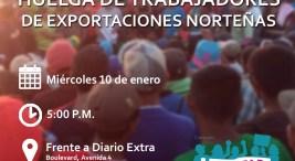 Manifestacion de solidaridad con la huelga de trabajadores de exportaciones nortenas