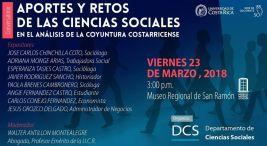 UCR Conversatorio Aportes y retos de las Ciencias Sociales