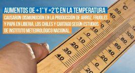 Aumentos en la temperatura causaron disminucion en la produccion de arroz frijoles y papa