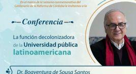 Conferencia La funcion decolonizadora de la Universidad publica latinoamericana2