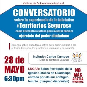 Conversatorio sobre la experiencia de la iniciativa Territorios Seguros