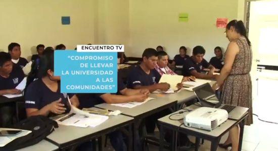 Encuentro TV UNA Compromiso de llevar la Universidad a las comunidades