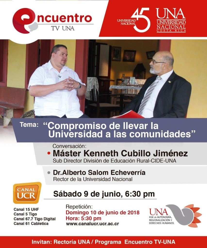 Encuentro TV UNA Compromiso de llevar la Universidad a las comunidades2