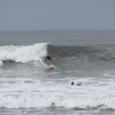 Here's Jen on a bigger wave the following day.