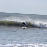 Here's Jen on a smaller cleaner wave from the day before the swell really picked up.