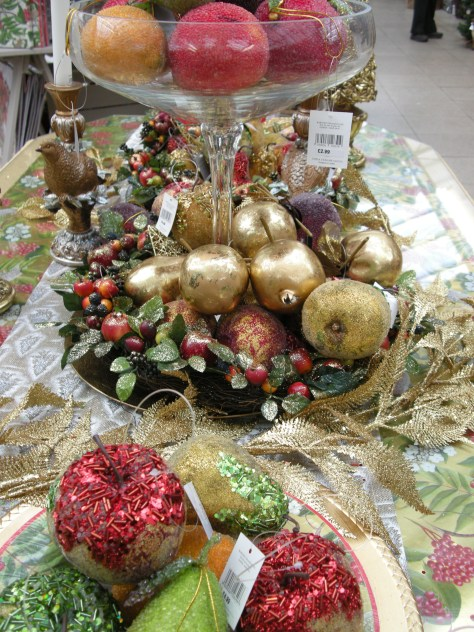 Christmas table ornaments