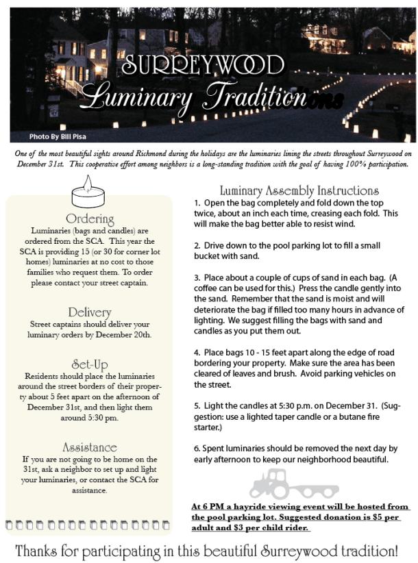 Surreywood Luminary Info