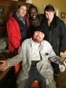 From L to R: Me, Chad Coleman, Claire White, Anthony Conti seated.