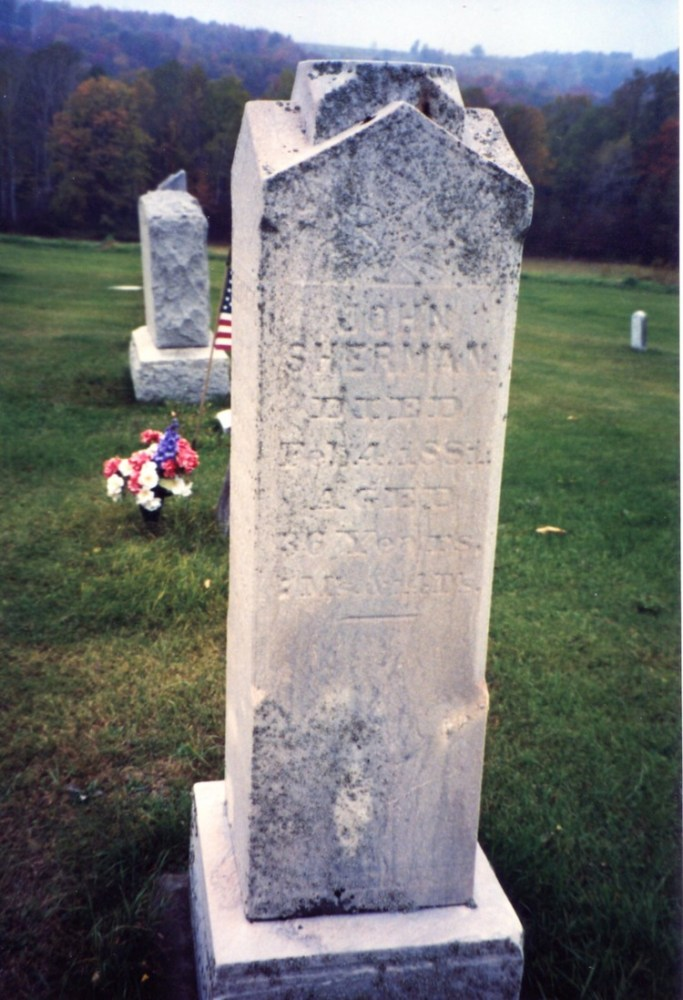 Sherman Gravestones, part 2 (5/6)