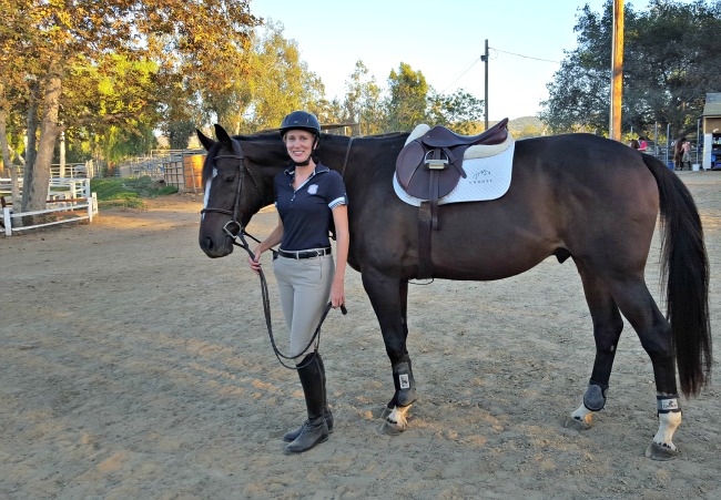 Horse and rider celebrate one year anniversary
