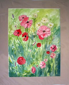 Anemones, matted, by Susan Sternau