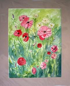 Anemones, matted, by Susan Sternau