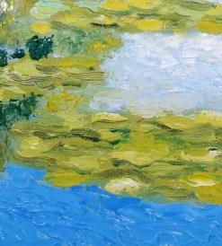 Lily Pond with Bridge, detail 2, by Susan Sternau