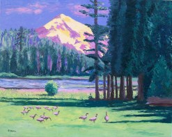 Duck Lake Oil Painting by Susan Sternau