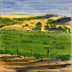 Wine Country Summer large tile, by Susan Sternau