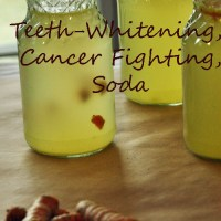 Teeth Whitening Cancer Fighting Tumeric Soda