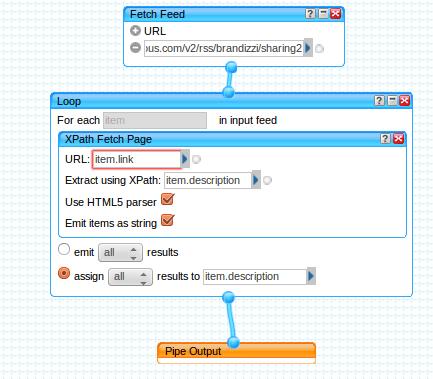 Expansor dos feeds RSS do Delicious que usa XPath para extrair o conteúdo relevante.