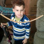 With Bow, arrows, and quiver