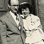 Dad and Mom wedding day - 1950
