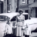 Me, Mom, and Gary in front of the 1954 Oldsmobile