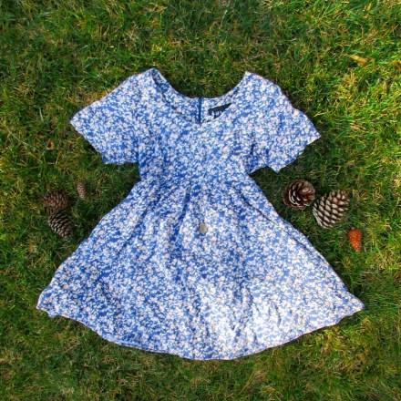 thrifted blue babydoll dress