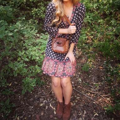 bohemian dress boho vintage leather purse