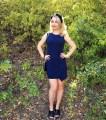 navy dress dresses dark blue sustainable recycled fabric color ecofashion ecofriendly fashion blog blogger short slit