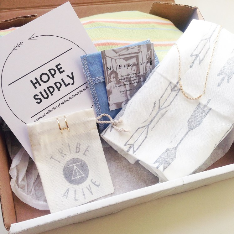ethical gifts gift subscription box ideas idea fair-trade sustainable fashion handmade hand made ecofashion hope supply mi esperanza