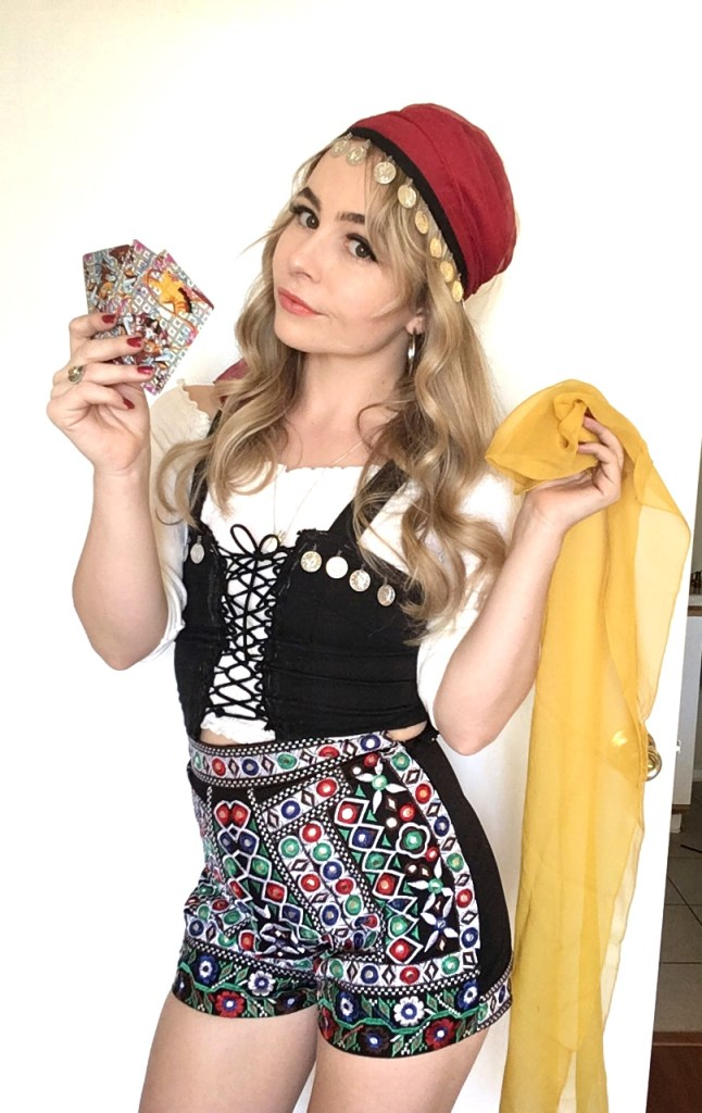 diy fortune teller halloween costume goodwill oc orange county corset gypsy pirate sustainable