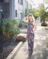thredup consignment shop stopping floral jumpuit romper jumper onesie falltime ootd outfit inspection dtla los angeles sustainable fashion secondhand preloved