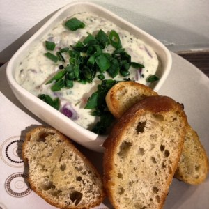 Vegetarian pate with toast