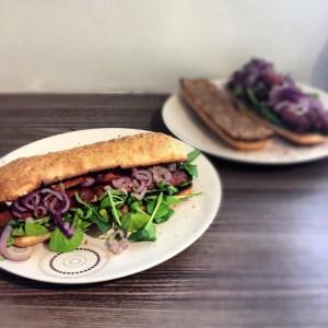 Vegan Sausage Sub Sandwich
