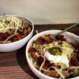 Veggie Chilli with Jacket Potatoes
