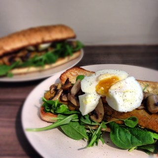 Tofu Sausage and Egg Sub Sandwich