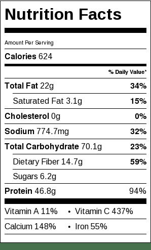 Baked Tofu, Quinoa and Peanuts