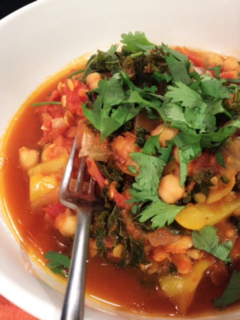 Chickpea, Kale and Tomato Stew